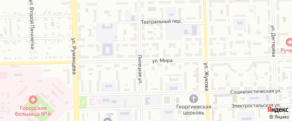 Улица Мира на карте Челябинска с номерами домов