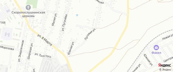 Луговая улица на карте Челябинска с номерами домов