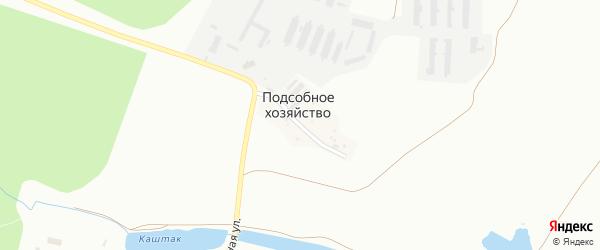 Поселок Подсобное хозяйство на карте Челябинска с номерами домов