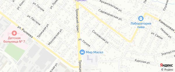 Виноградный переулок на карте Челябинска с номерами домов