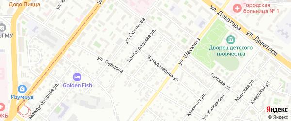 Ленинградская улица на карте Челябинска с номерами домов
