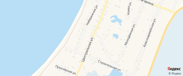 Центральная улица на карте поселка Саккулово с номерами домов