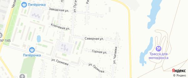 Улица Северная (Новосинеглазово) на карте Челябинска с номерами домов