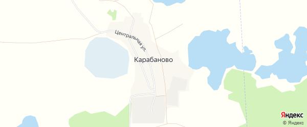 Карта поселка Карабаново в Челябинской области с улицами и номерами домов