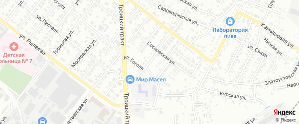 Улица Марата на карте Челябинска с номерами домов