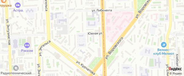 Больничная улица на карте Челябинска с номерами домов