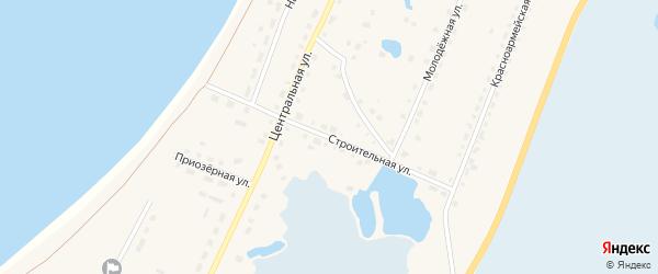 Строительная улица на карте поселка Саккулово с номерами домов