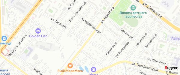 Улица Шаумяна на карте Челябинска с номерами домов