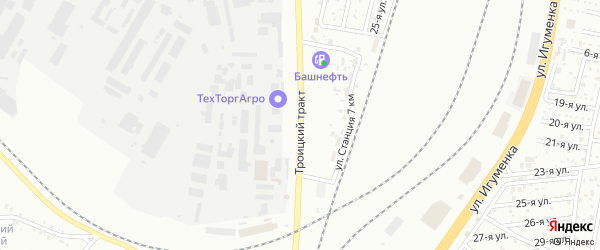 Троицкий тракт на карте Челябинска с номерами домов