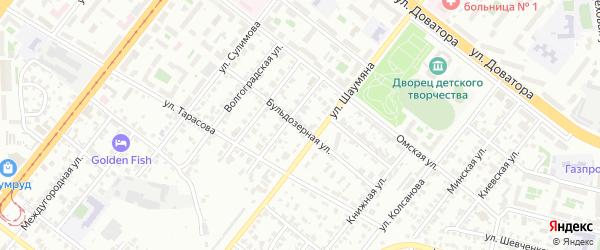 Бульдозерная улица на карте Челябинска с номерами домов