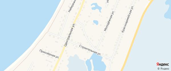 Кыштымская улица на карте поселка Саккулово с номерами домов