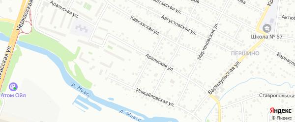 Водная улица на карте Челябинска с номерами домов