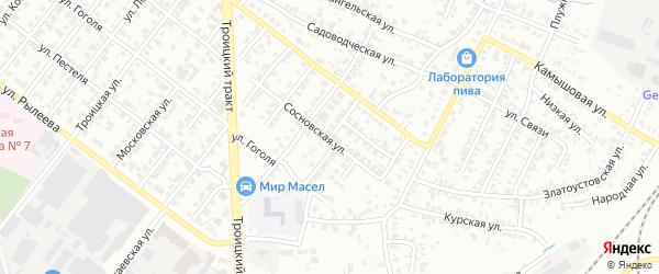 Алданская улица на карте Челябинска с номерами домов