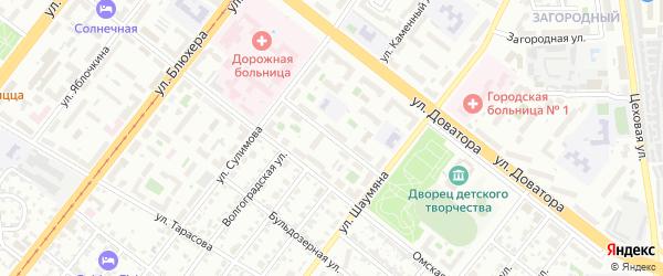 Техникумовская улица на карте Челябинска с номерами домов