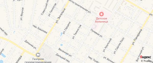 Улица Танкистов на карте Коркино с номерами домов