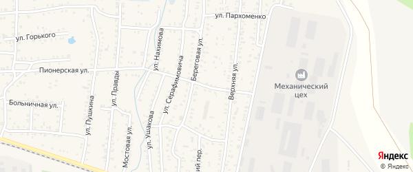 Улица Щербакова на карте Коркино с номерами домов
