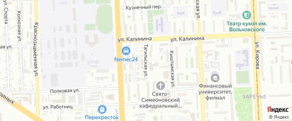 Тагильская улица на карте Челябинска с номерами домов