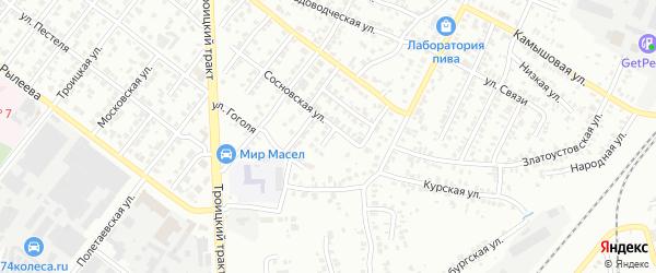 Переулок Гоголя на карте Челябинска с номерами домов