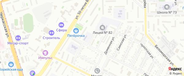 Прокатный 1-й переулок на карте Челябинска с номерами домов