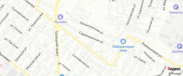 Садоводческая улица на карте Челябинска с номерами домов