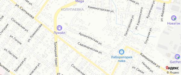 Архангельская улица на карте Челябинска с номерами домов