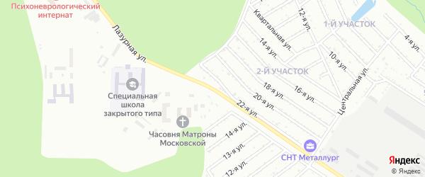 Лазурная улица на карте Челябинска с номерами домов