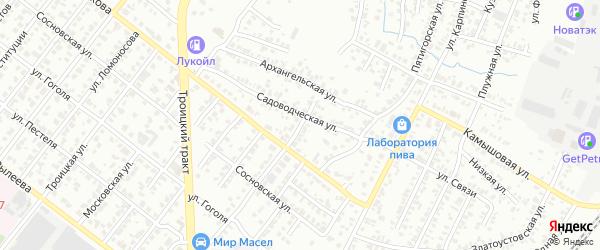 Белорусская улица на карте Челябинска с номерами домов