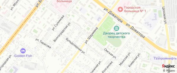 Омская улица на карте Челябинска с номерами домов