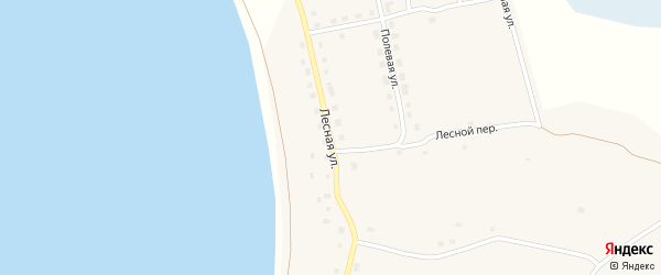 Лесная улица на карте поселка Саккулово с номерами домов