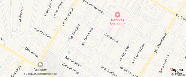 Переулок Коммунаров на карте Коркино с номерами домов