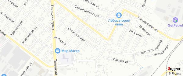 Алданский переулок на карте Челябинска с номерами домов