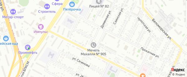 Доменная улица на карте Челябинска с номерами домов