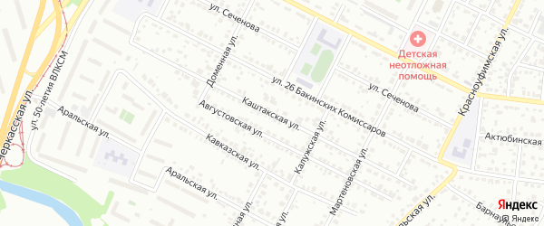 Каштакская улица на карте Челябинска с номерами домов