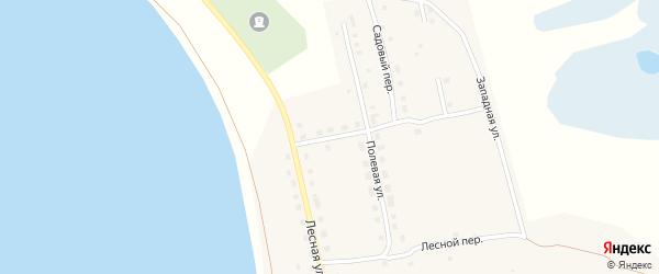 Сиреневая улица на карте поселка Саккулово с номерами домов