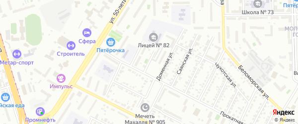 Прокатный 2-й переулок на карте Челябинска с номерами домов