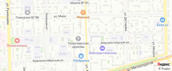Улица Жукова на карте Челябинска с номерами домов