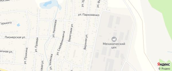 Верхняя улица на карте Коркино с номерами домов