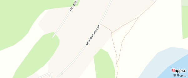 Молодежная улица на карте деревни Чебакуля с номерами домов