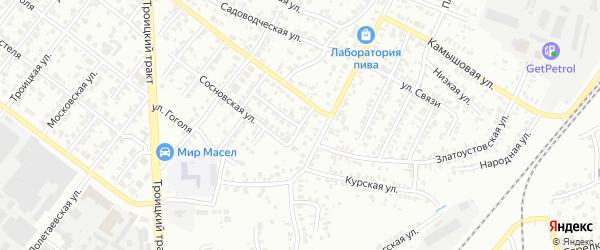 Адлерская улица на карте Челябинска с номерами домов