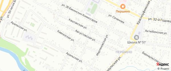 Августовская улица на карте Челябинска с номерами домов