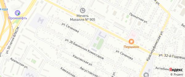 Улица Сеченова на карте Челябинска с номерами домов