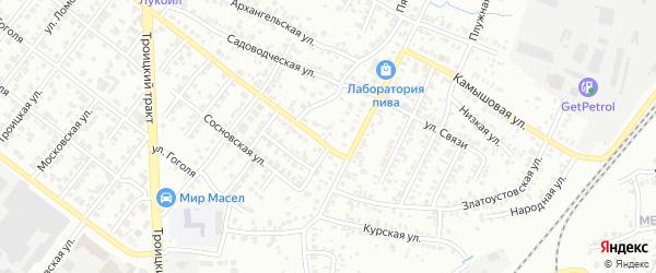 Шиферный переулок на карте Челябинска с номерами домов