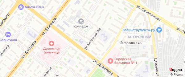 Улица Каменный Лог на карте Челябинска с номерами домов