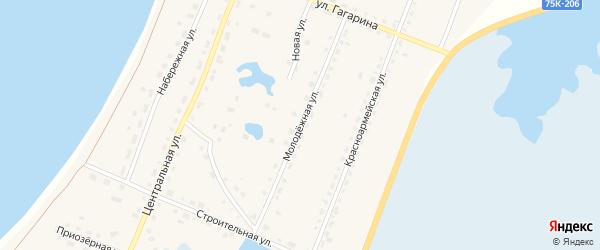 Молодежная улица на карте поселка Саккулово с номерами домов
