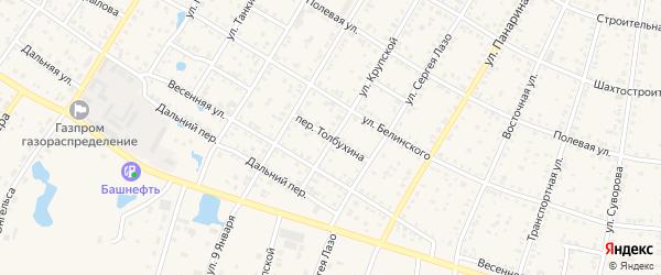 Переулок Толбухина на карте Коркино с номерами домов