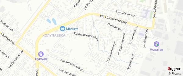 Хрустальная улица на карте Челябинска с номерами домов
