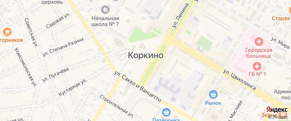 Клубная улица на карте Коркино с номерами домов