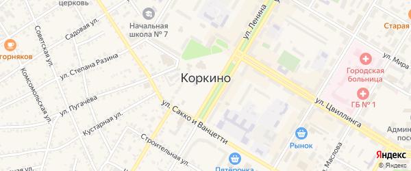 Переулок Вахрушева на карте Коркино с номерами домов