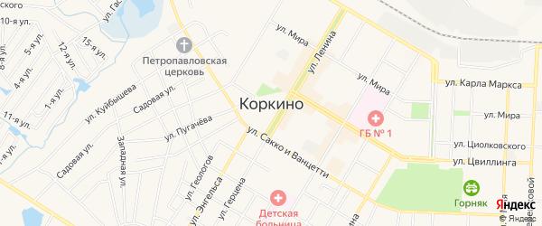 СТ Надежда на карте Коркино с номерами домов