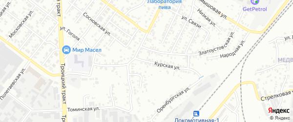 Курская улица на карте Челябинска с номерами домов